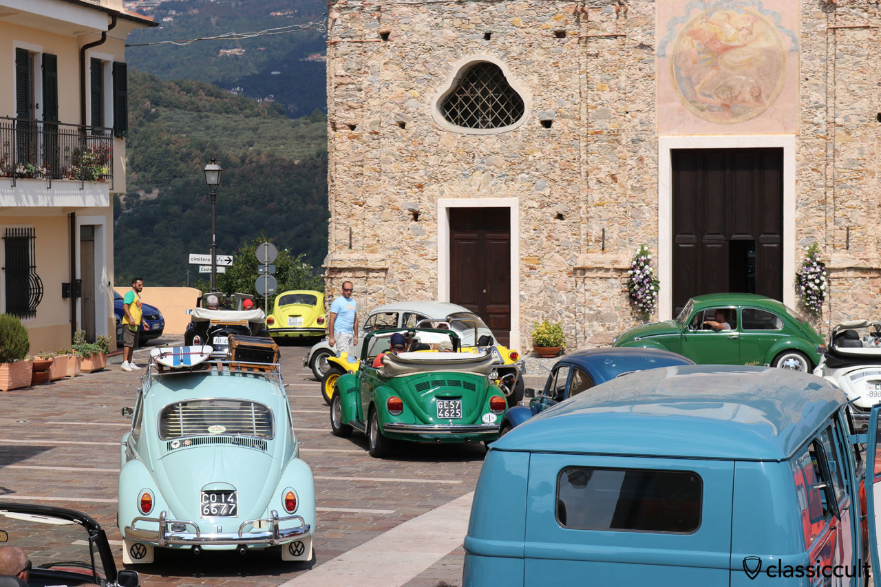 VW fans leaving San Michele church