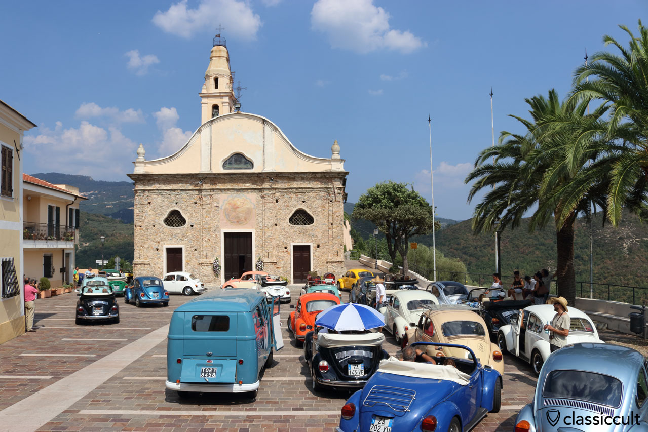 Aircooled VWs at RiVWiera 3, San Michele church, Italy 2016