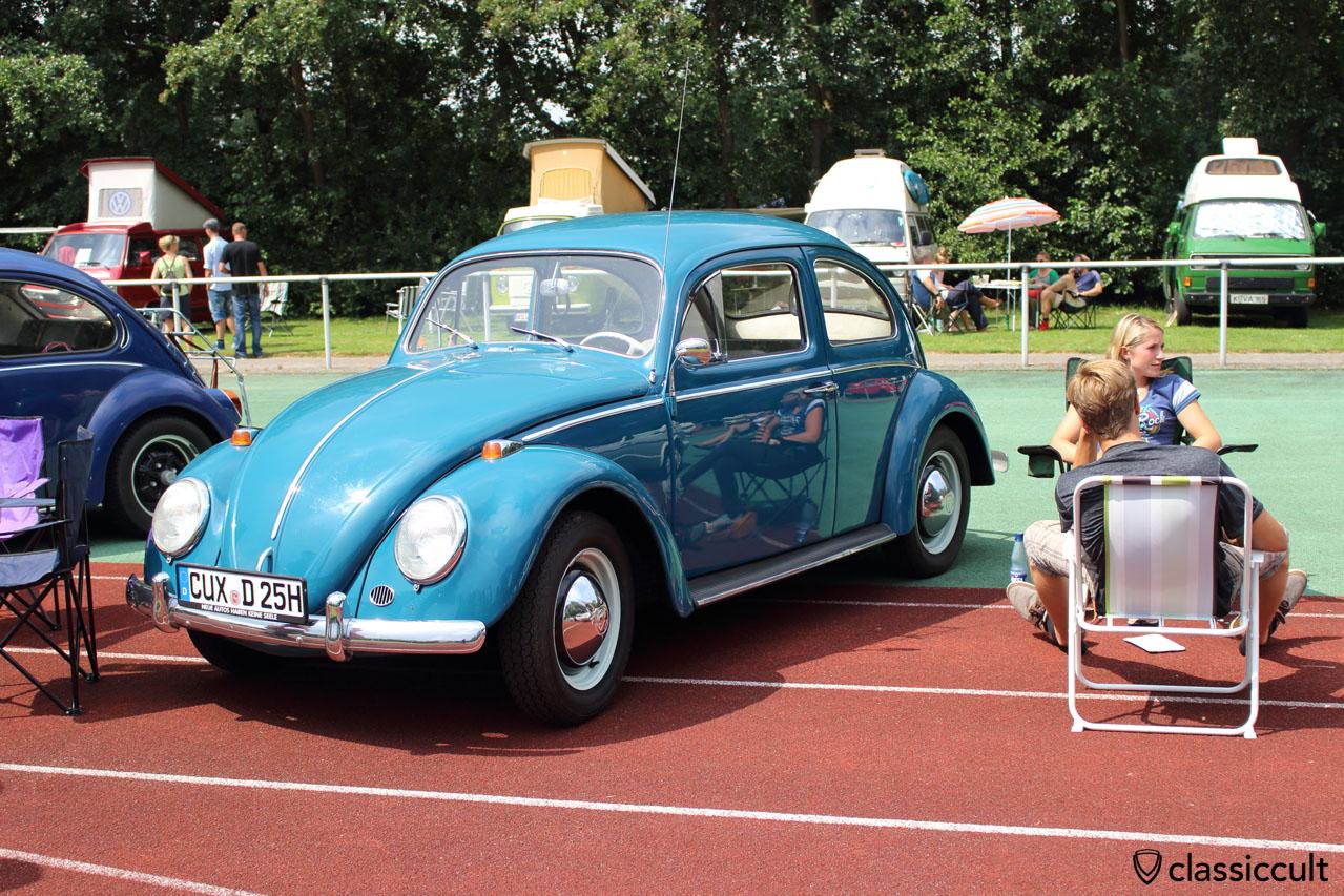 1964 Käfer in seeblau aus Cuxhaven, wurde aus Schweden importiert, sehr schön