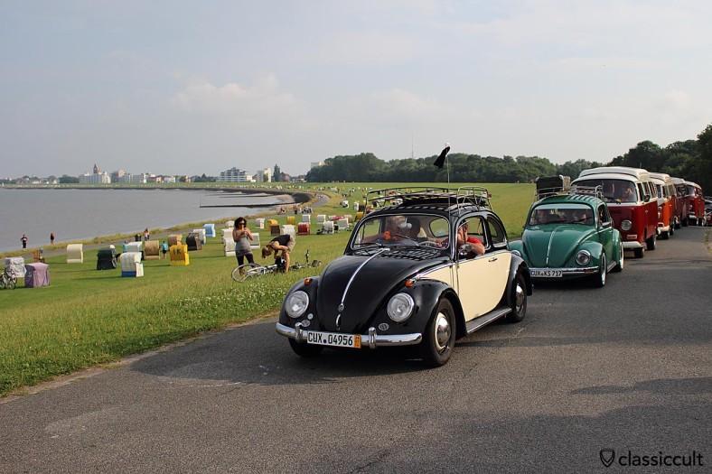 RTTS Korso durch Cuxhaven und der Grimmershörnbucht