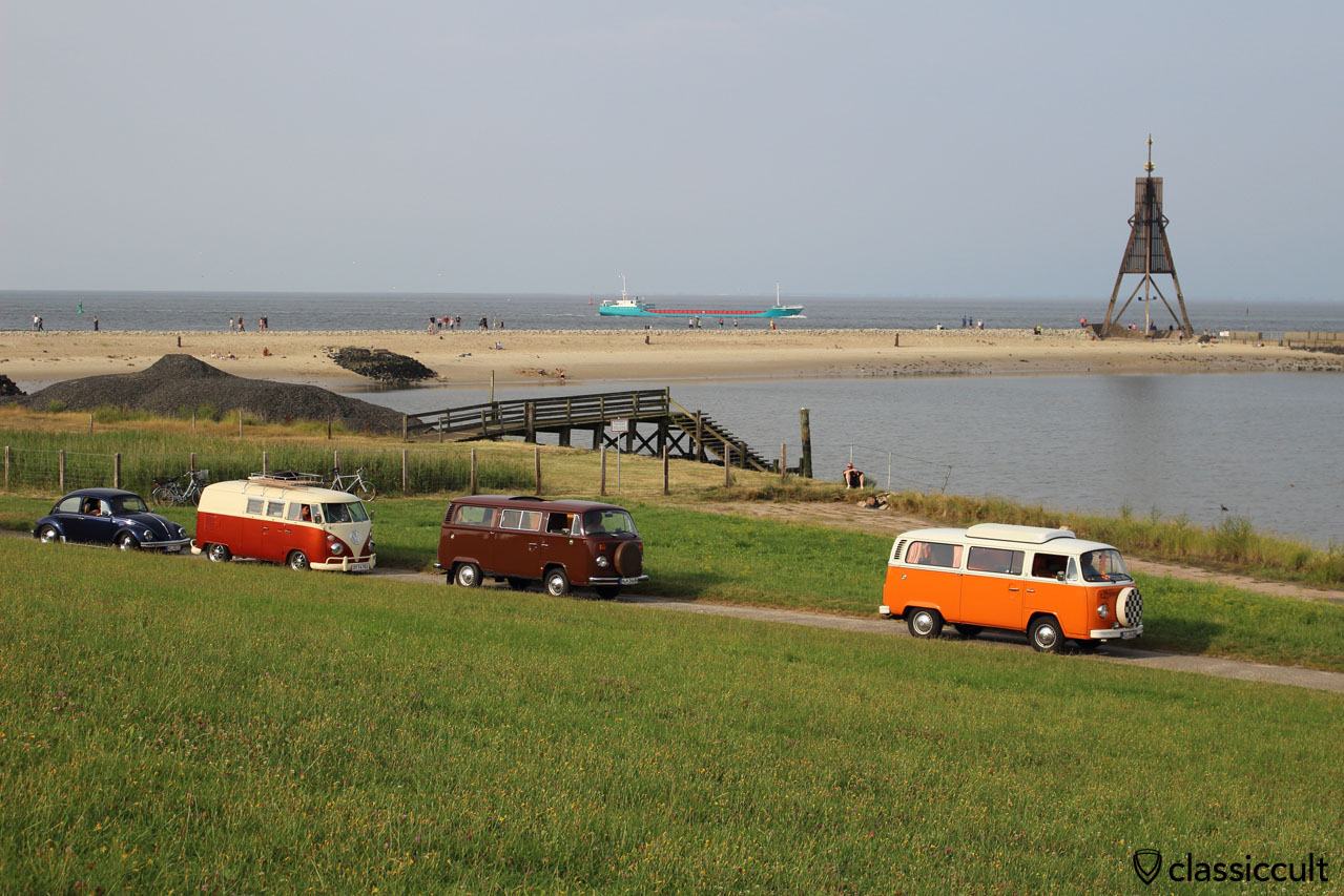 VW bei der Kugelbake Cuxhaven 2014