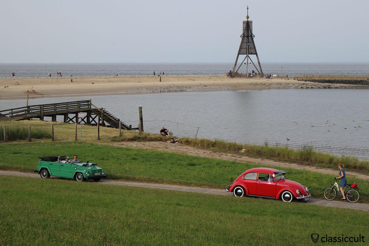 VW Käfer, Kübel und Kugelbake