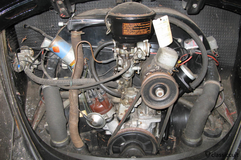 1965 VW Beetle motor with Saxomat control valve