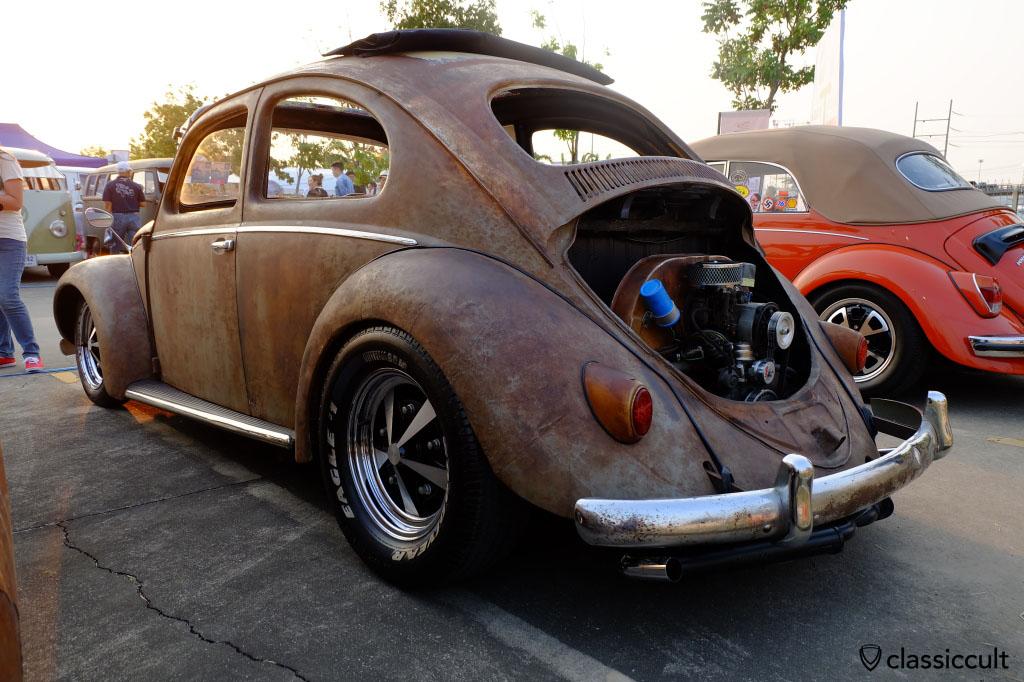 low patina VW Ragtop, rear