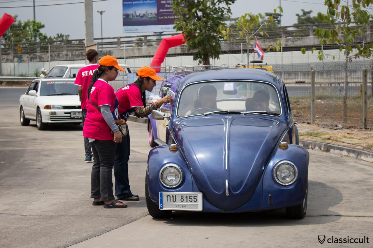 VW Beetle without front bumper
