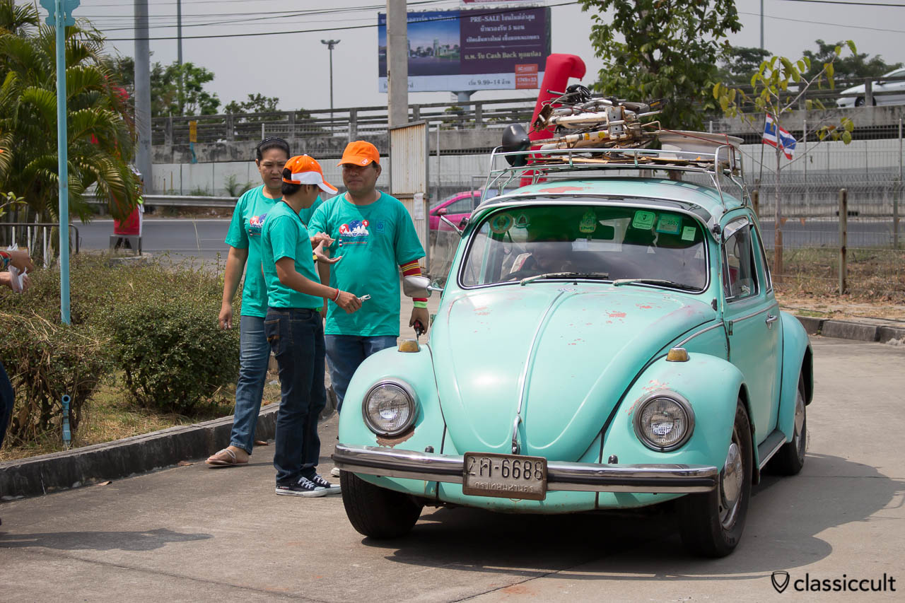 VW Bug with roof rack
