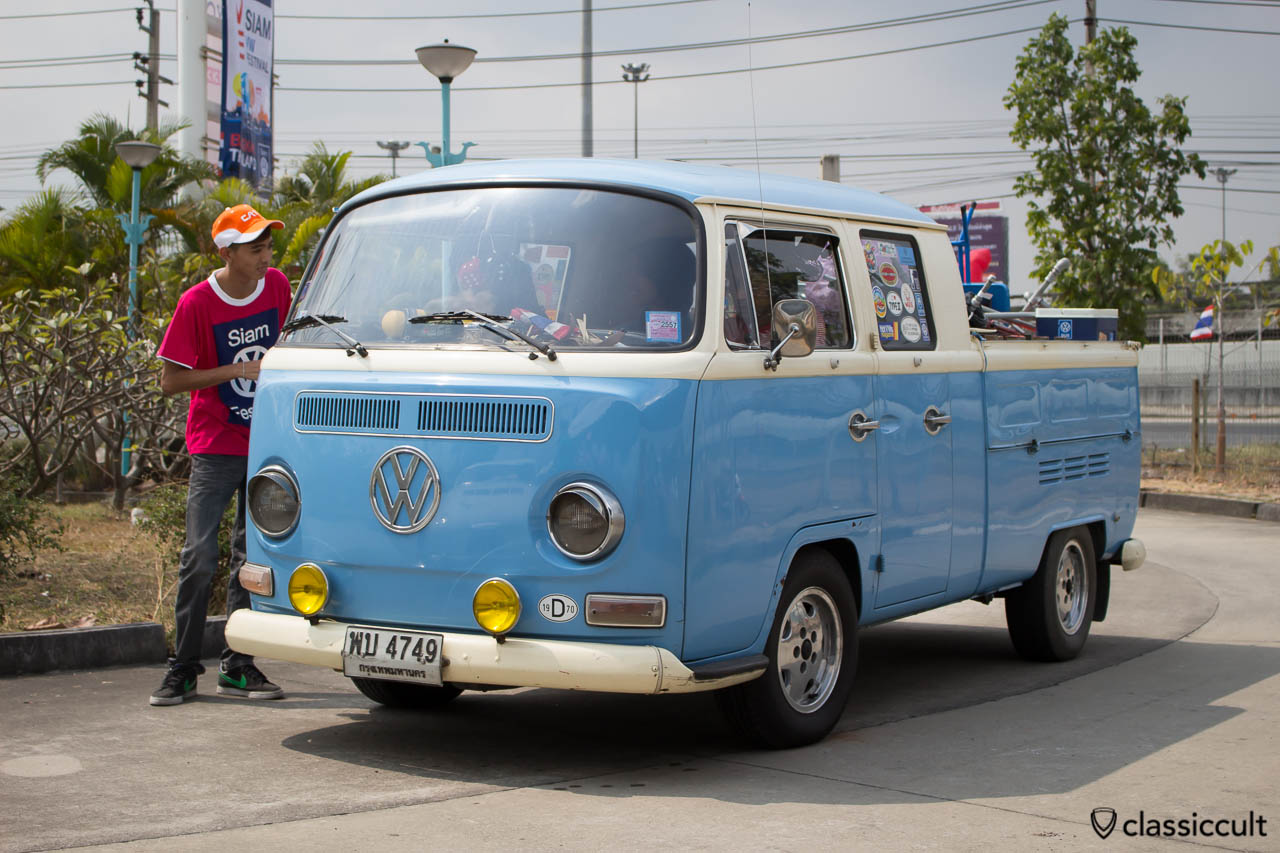 1970 VW T2a double cab pick up with yellow fog lights