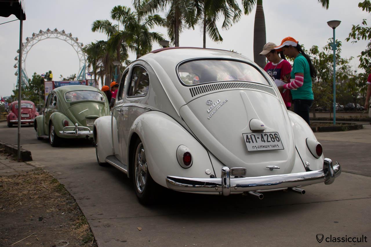 white VW Ragtop with Porsche wheels