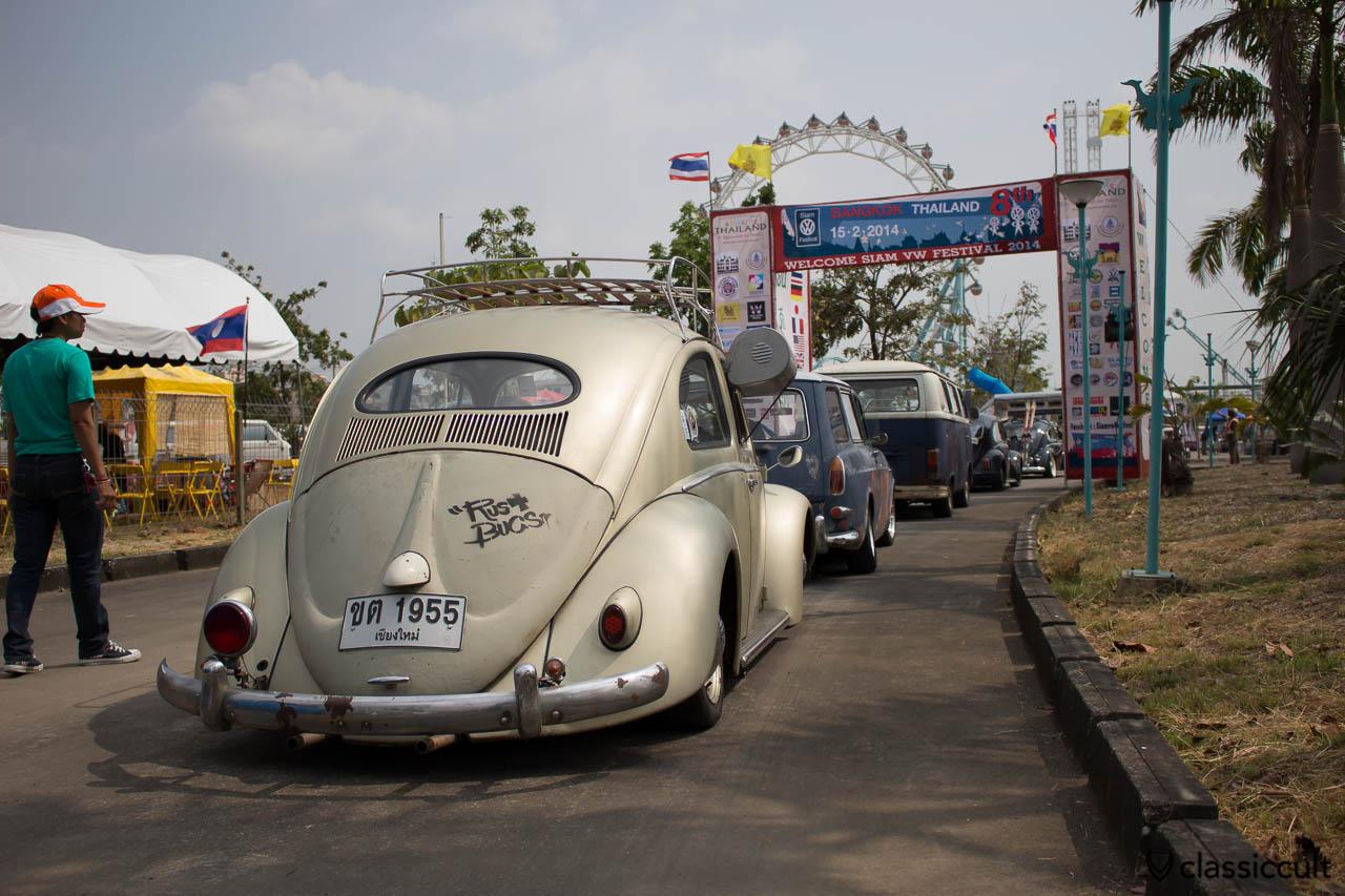 VW Oval Bug with Bosch rear fog lamp