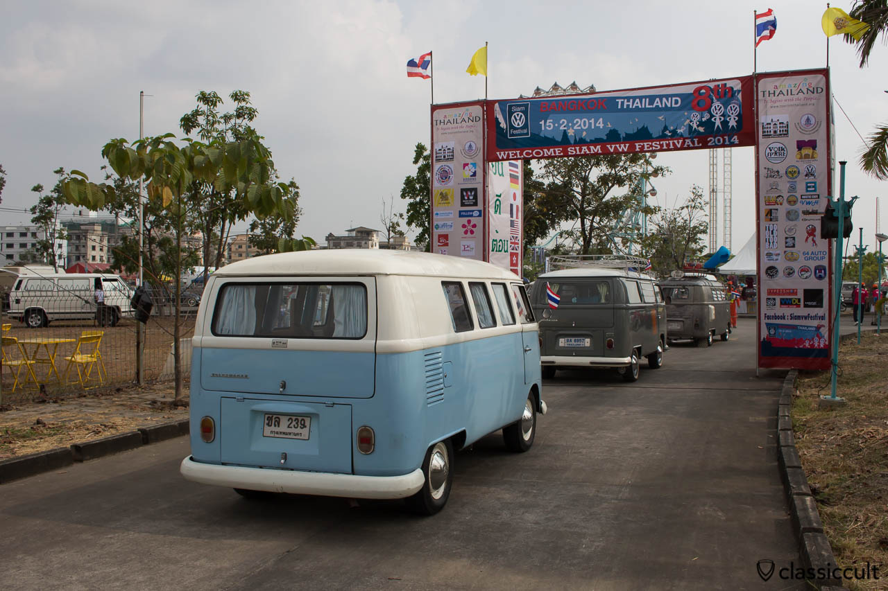 blue white Splitty rear