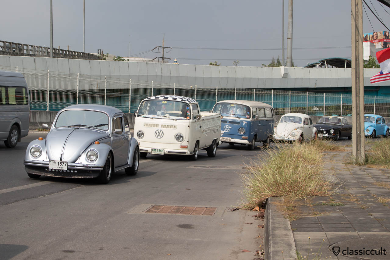 VW arriving at Siam VW Show
