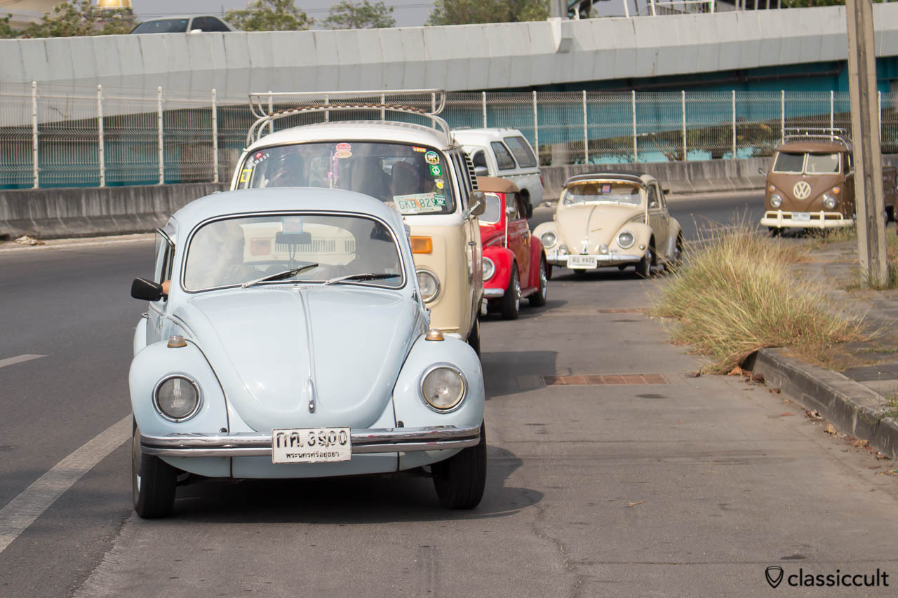 VW driving to Siam VW Festival