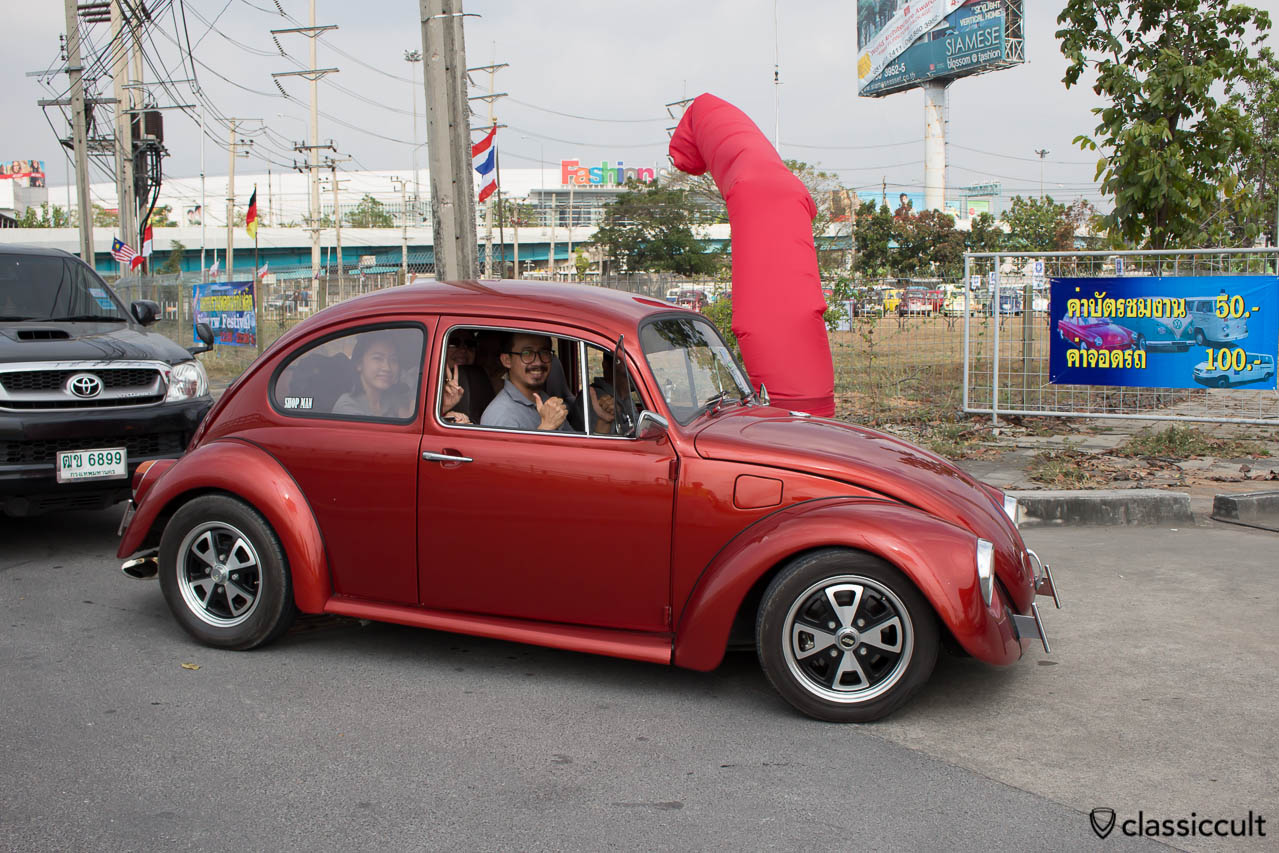 Beetle fully loaded with happy Thai VW Fans