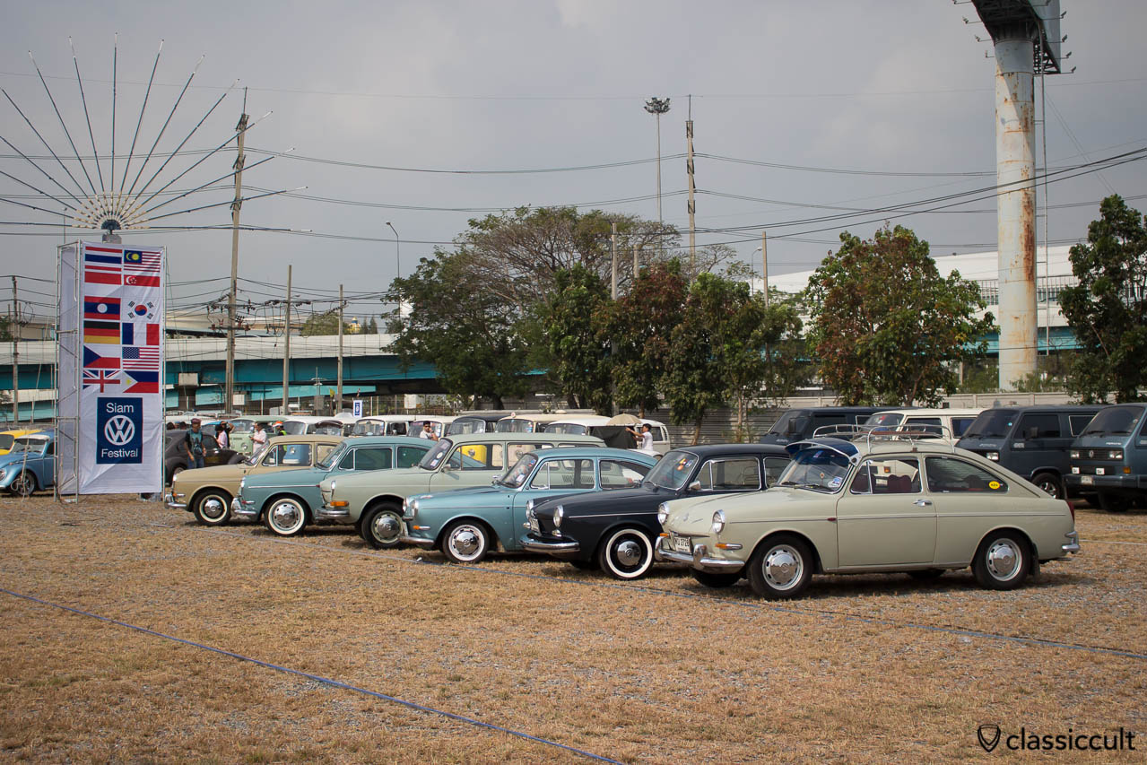 Type 3 line up at Siam VW Festival
