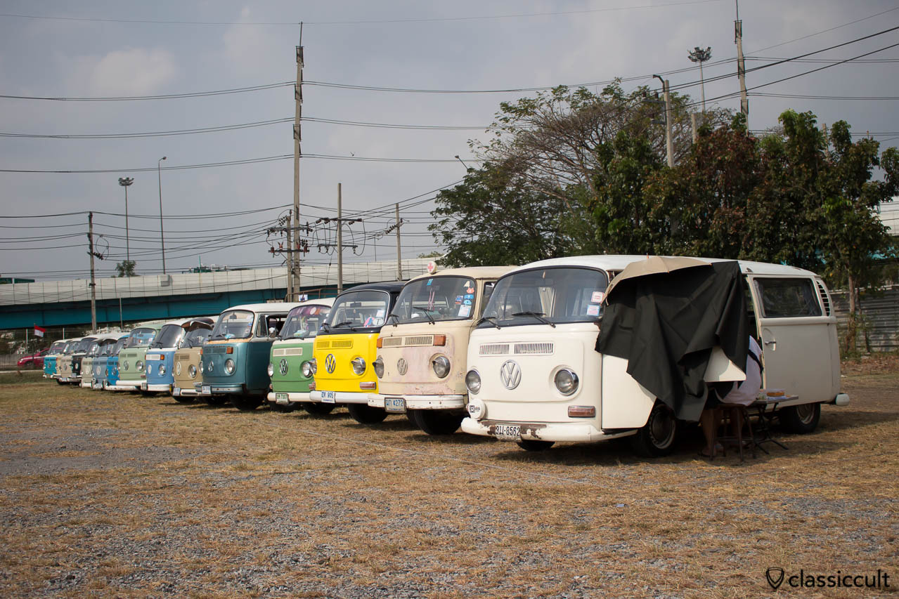 VW T2 line up at Siam VW Festival