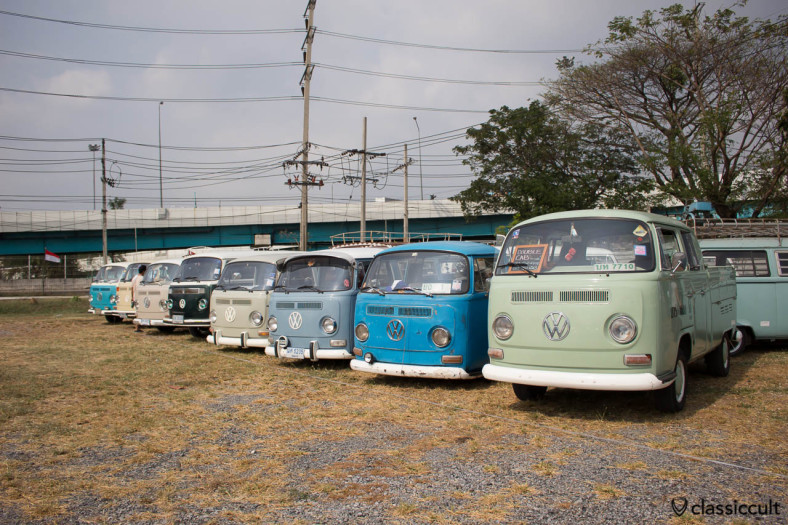 T2 Bus line up at Siam VW Festival