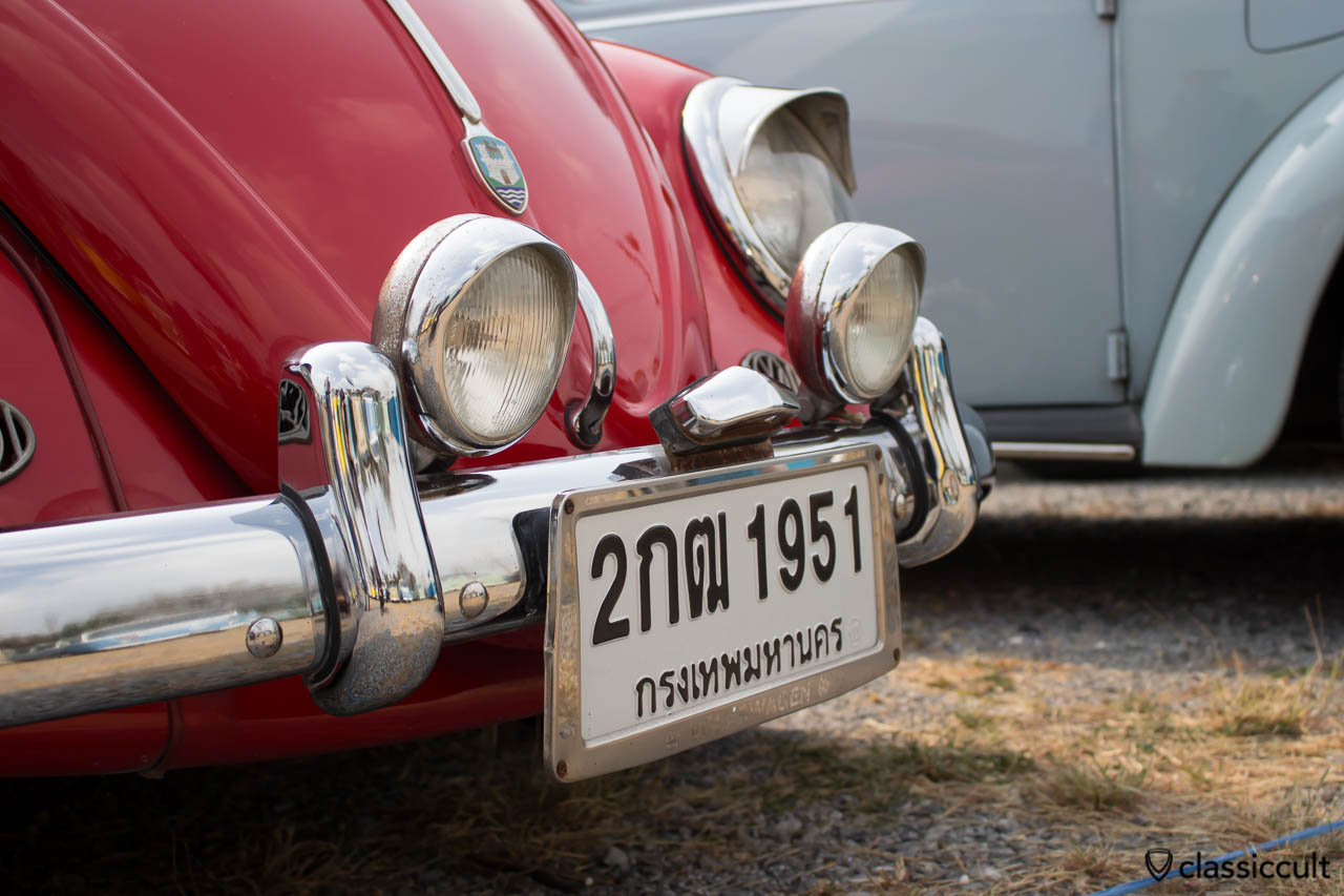 VW Bug with front license plate light
