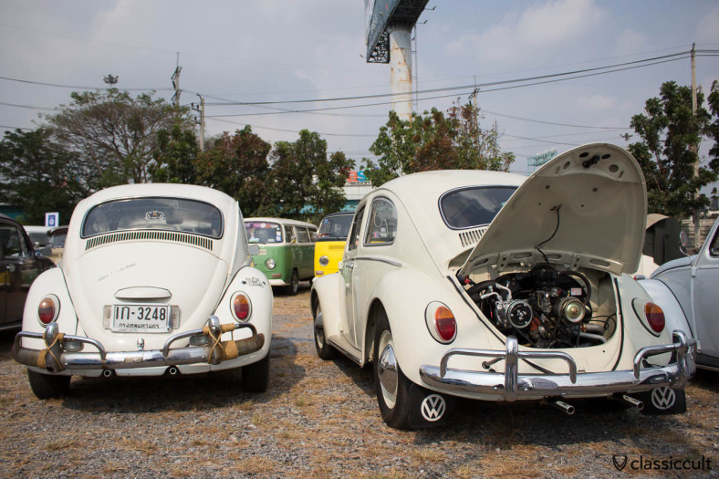 white Bug with tuned motor
