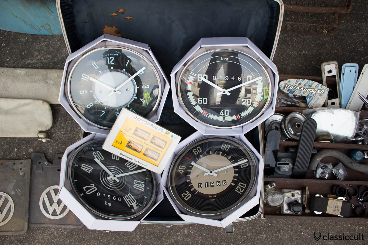 Very nice VW Speedometer wall clock. I bought the split bus wall clock. Not available in Europe.