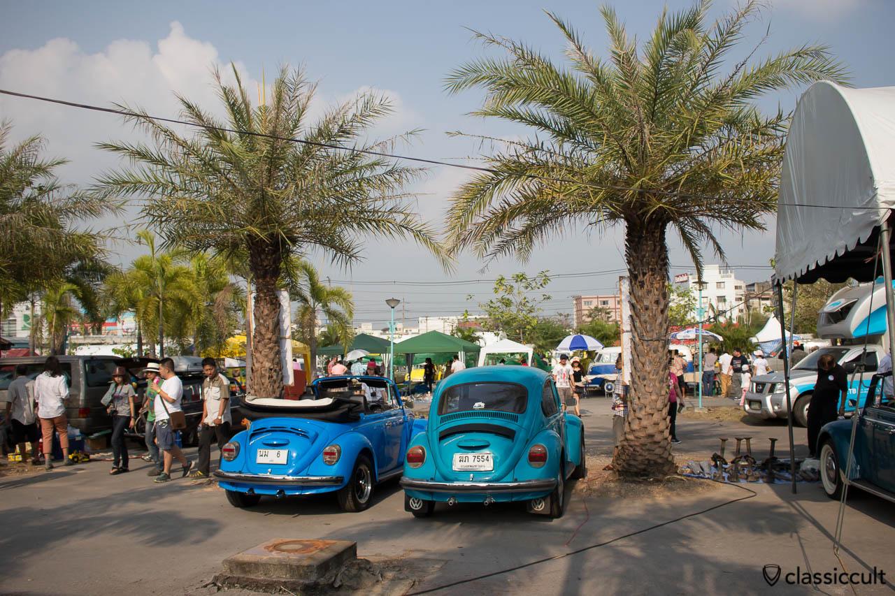 blue VW Beetle cabriolet