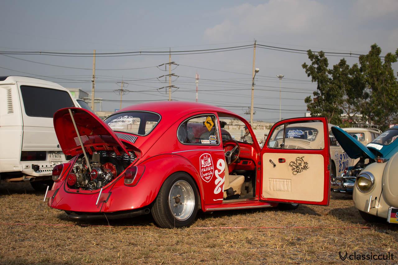 red VW Bounce Beetle rear side