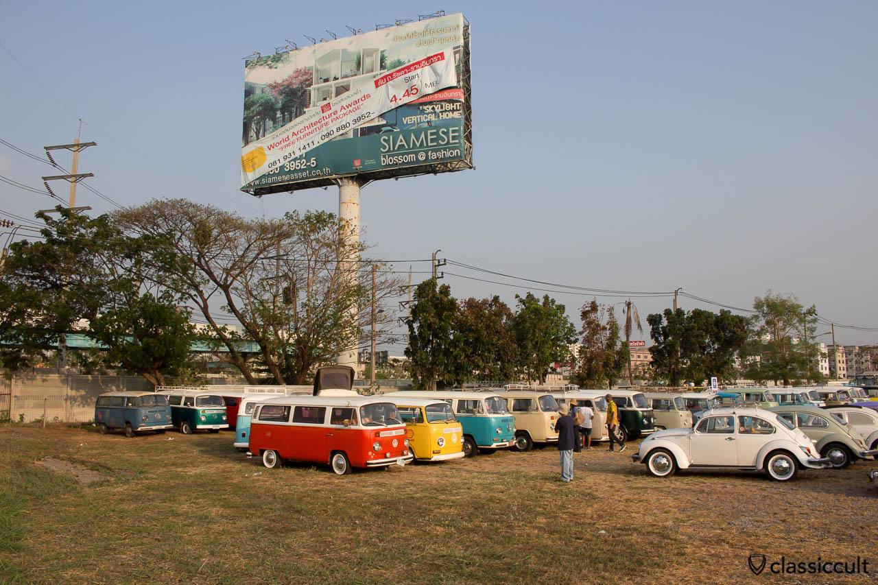 Volkswagen parking at The Wonder World Fun Park Siam Festival.