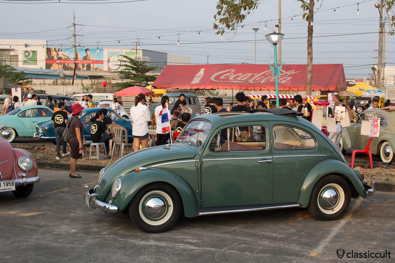 green VW Ragtop