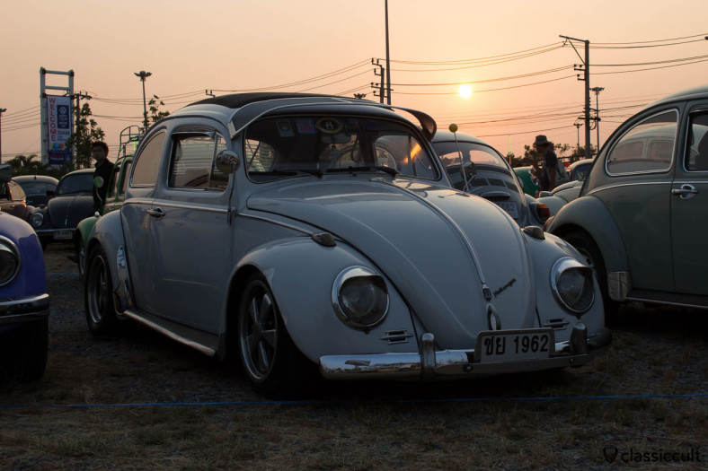 1962 VW Bug sunset in Bangkok