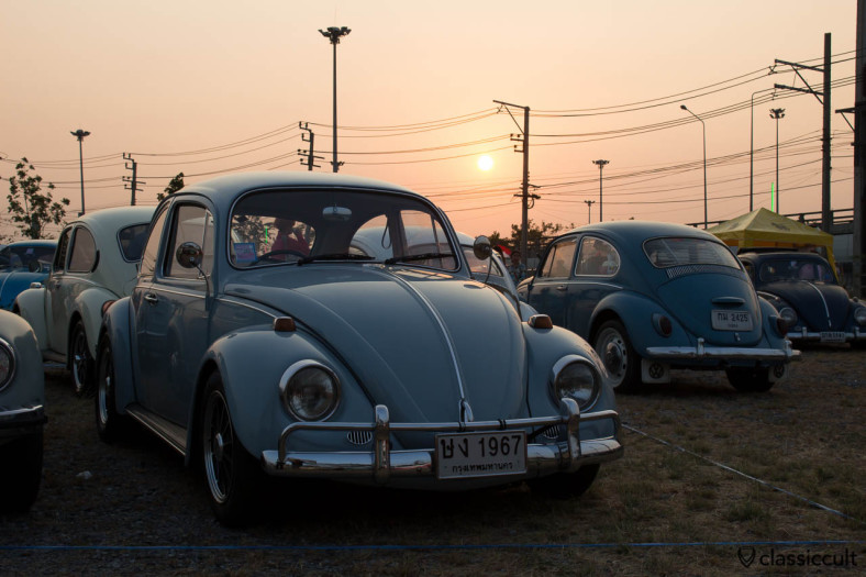 1967 VW Beetle sunset in Bangkok
