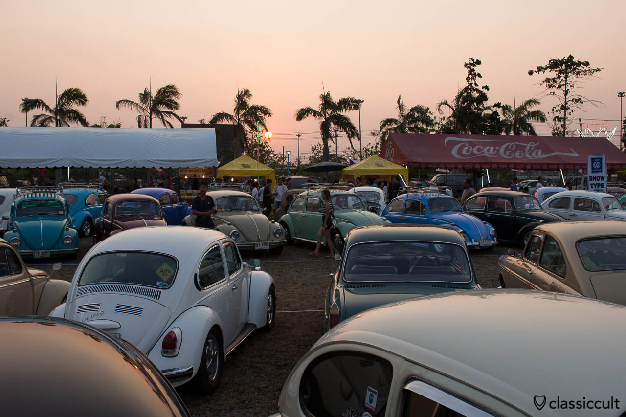 Classic VWs at Siam Show Sunset