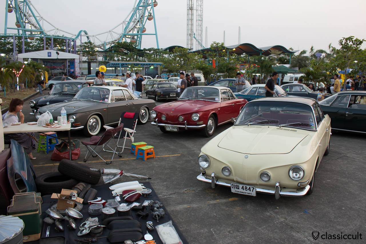Karmann Ghia Type 34 at Siam VW Festival 2014 in Bangkok Thailand