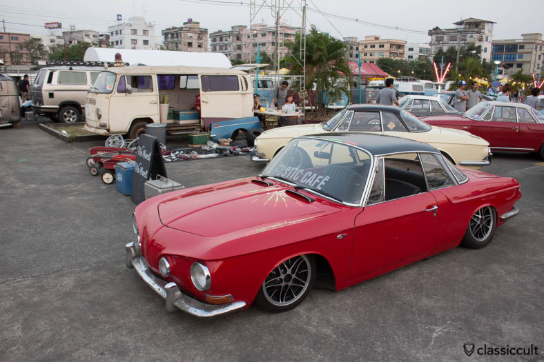 lowered red Karmann Ghia Type 34