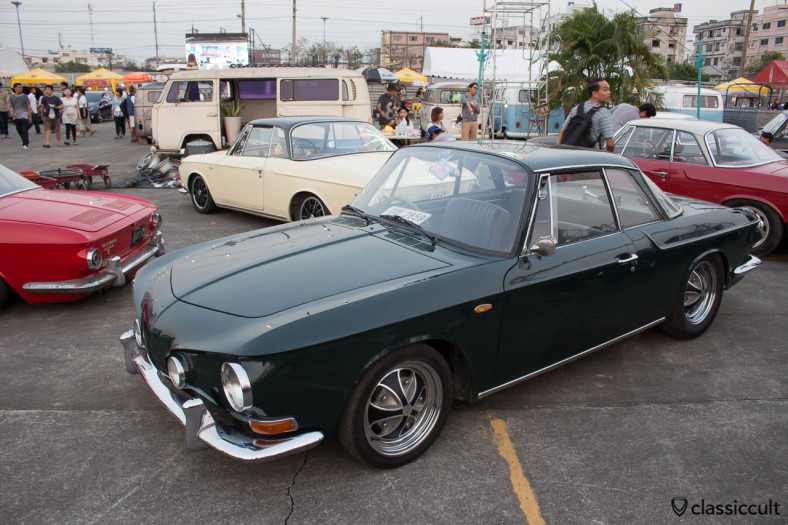 lowered black Karmann Ghia Type 34