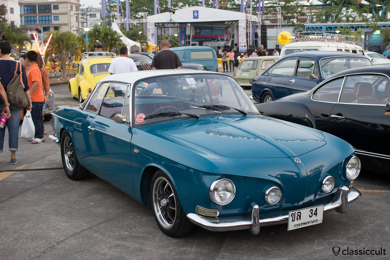lowered blue Karmann Ghia Type 34