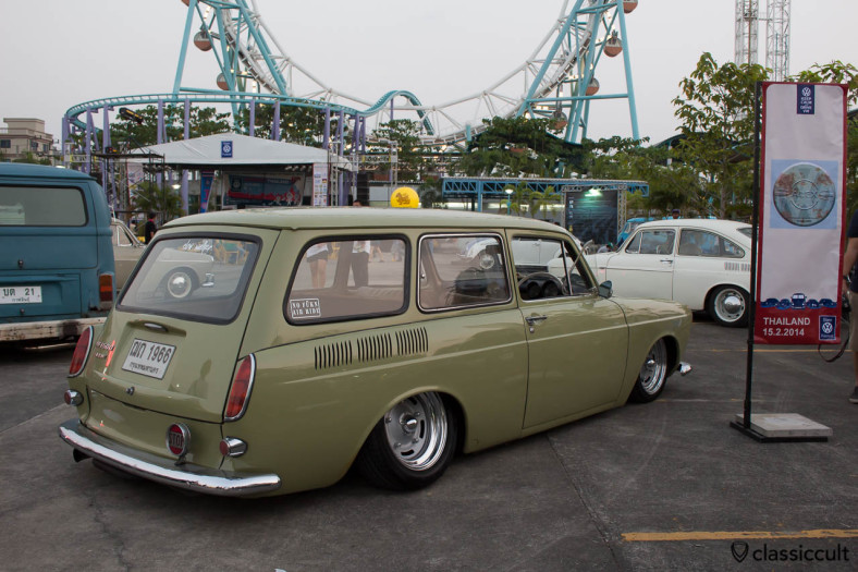 slammed 1966 Type 3 Squareback with rear STOP light