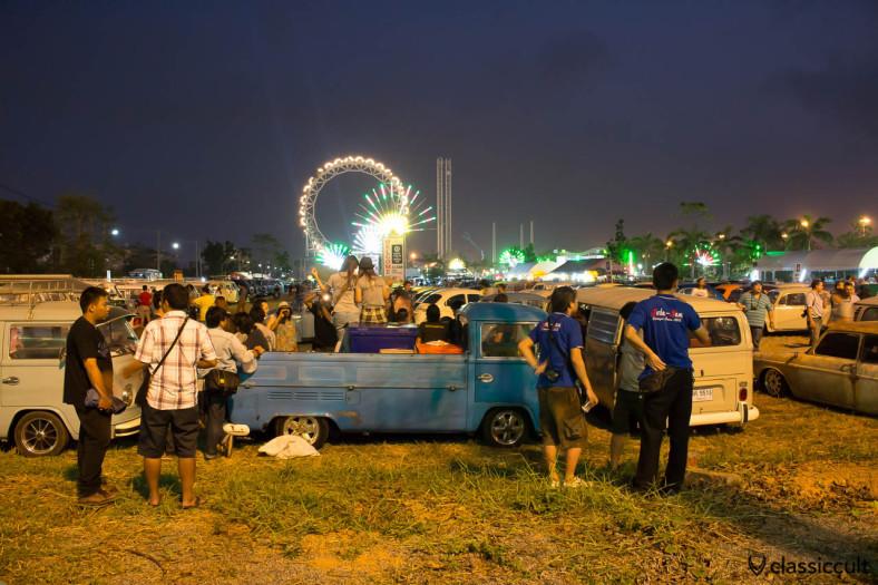 Siam VW Festival 2014 at night, The Wonder World Fun Park Bangkok.