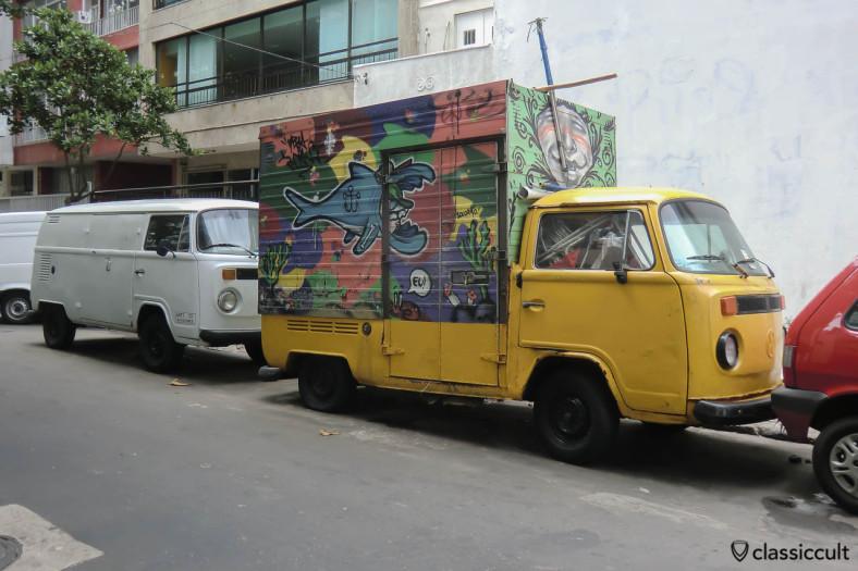 Single Cab VW Bus and Panel Bay VW Bus, Ipanema, Rio, Brazil, May 22, 2013