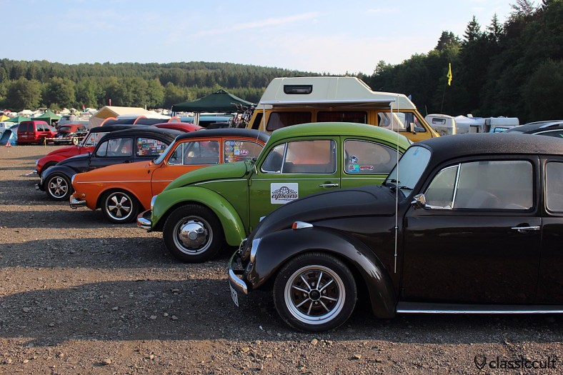 VW Line Up Bug Show Spa Campground 2014