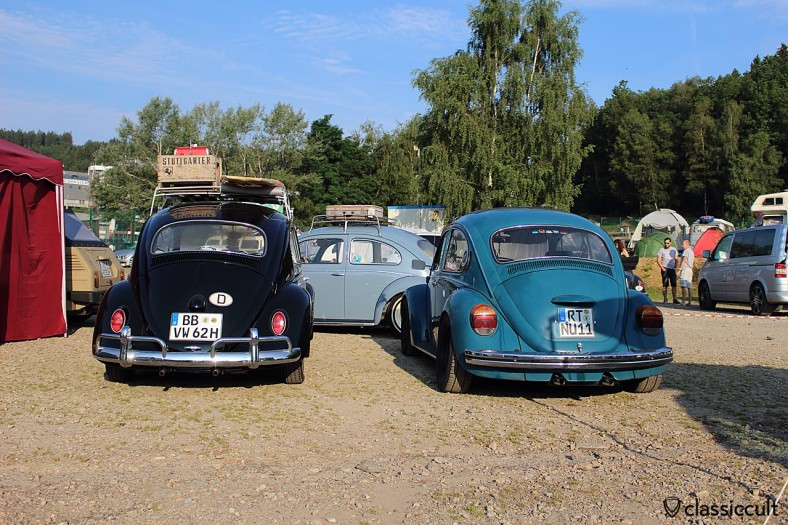 black 1962 VW Beetle with roof rack