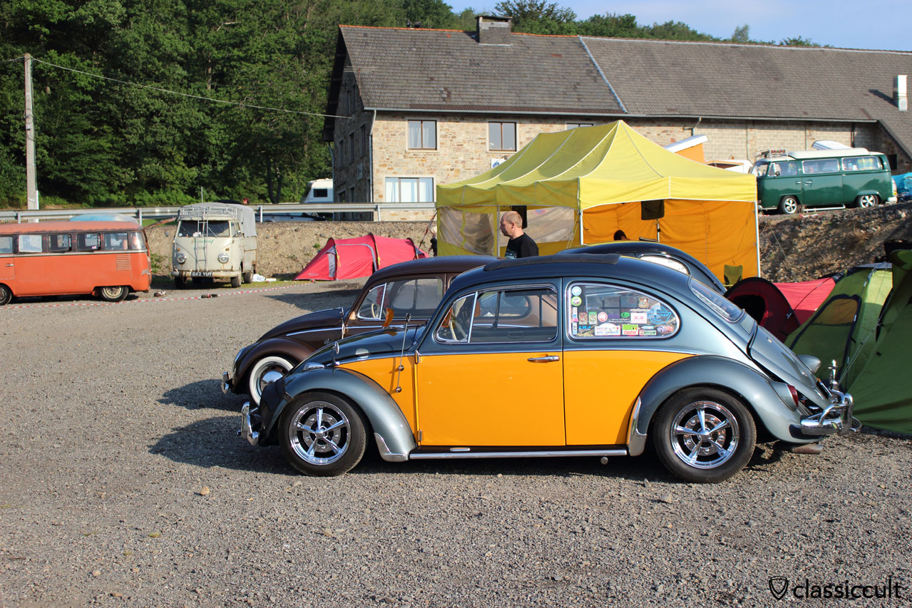clean VW Bug with accessories, Spa VW Show 2014