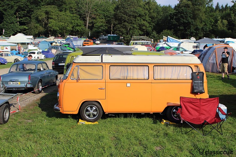 nice T2b Camper Van, VW Bug Show Campground 2014