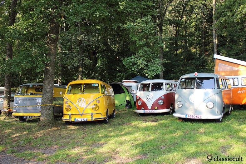 Bug Show 2014 Campground with VW Camper Vans