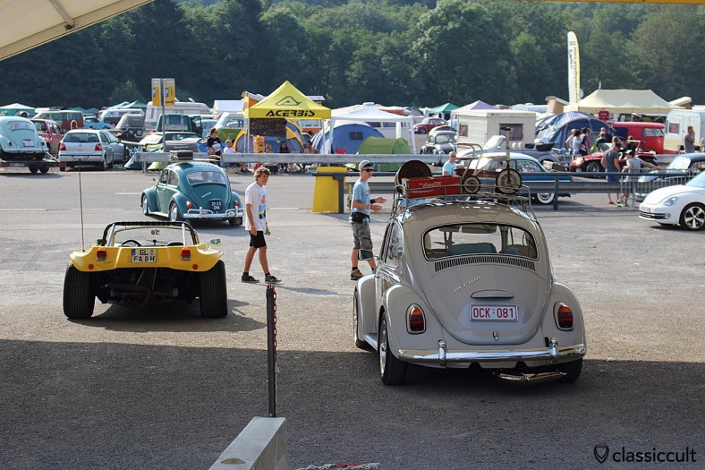Bug Show Entrance: 39 EUR for Air-Cooled, 18 EUR for visitor. So how much is it? VW Beetle 39 EUR + Mister 18 EUR + Miss 18 EUR  = 75 EUR Total, you get what you pay for, a superb VW Show