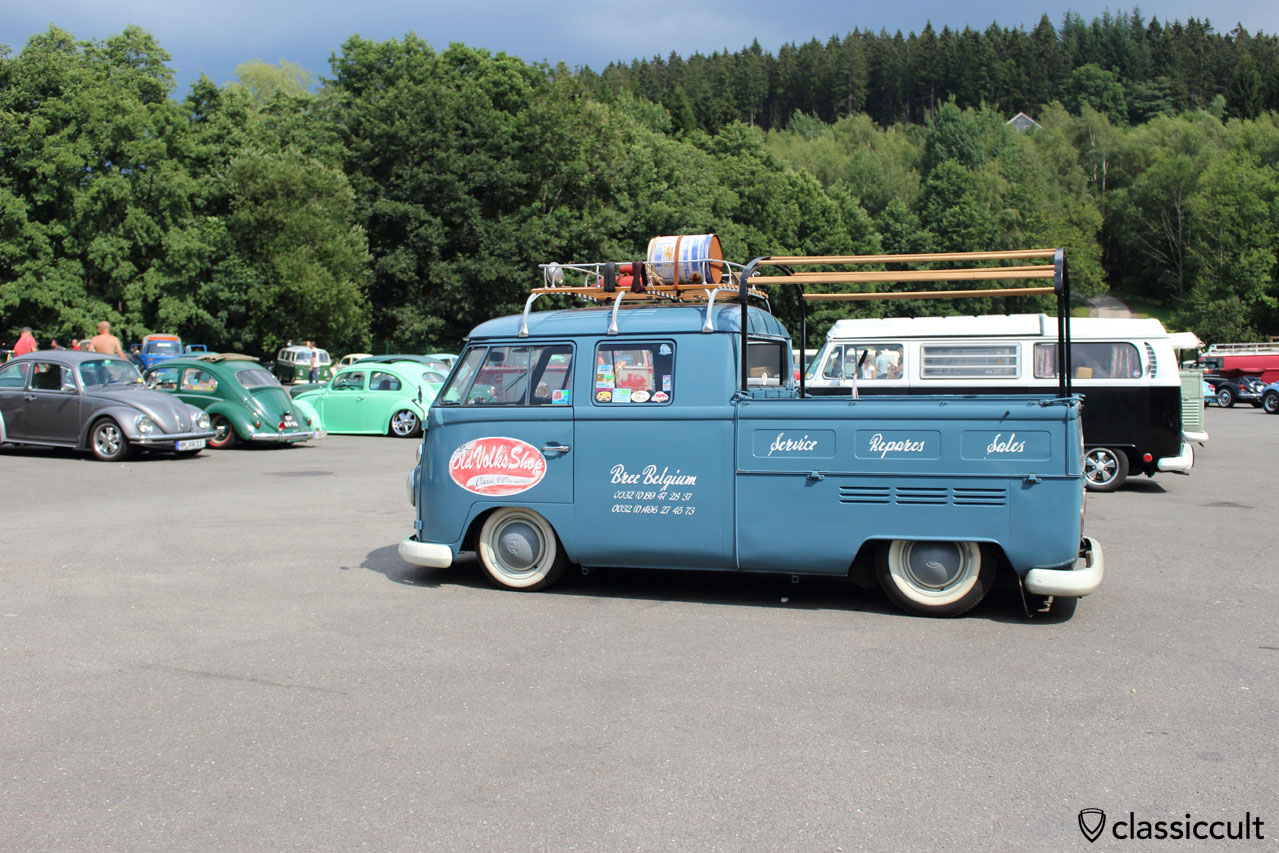 Old Volks Shop Bree Belgium T1 double cab