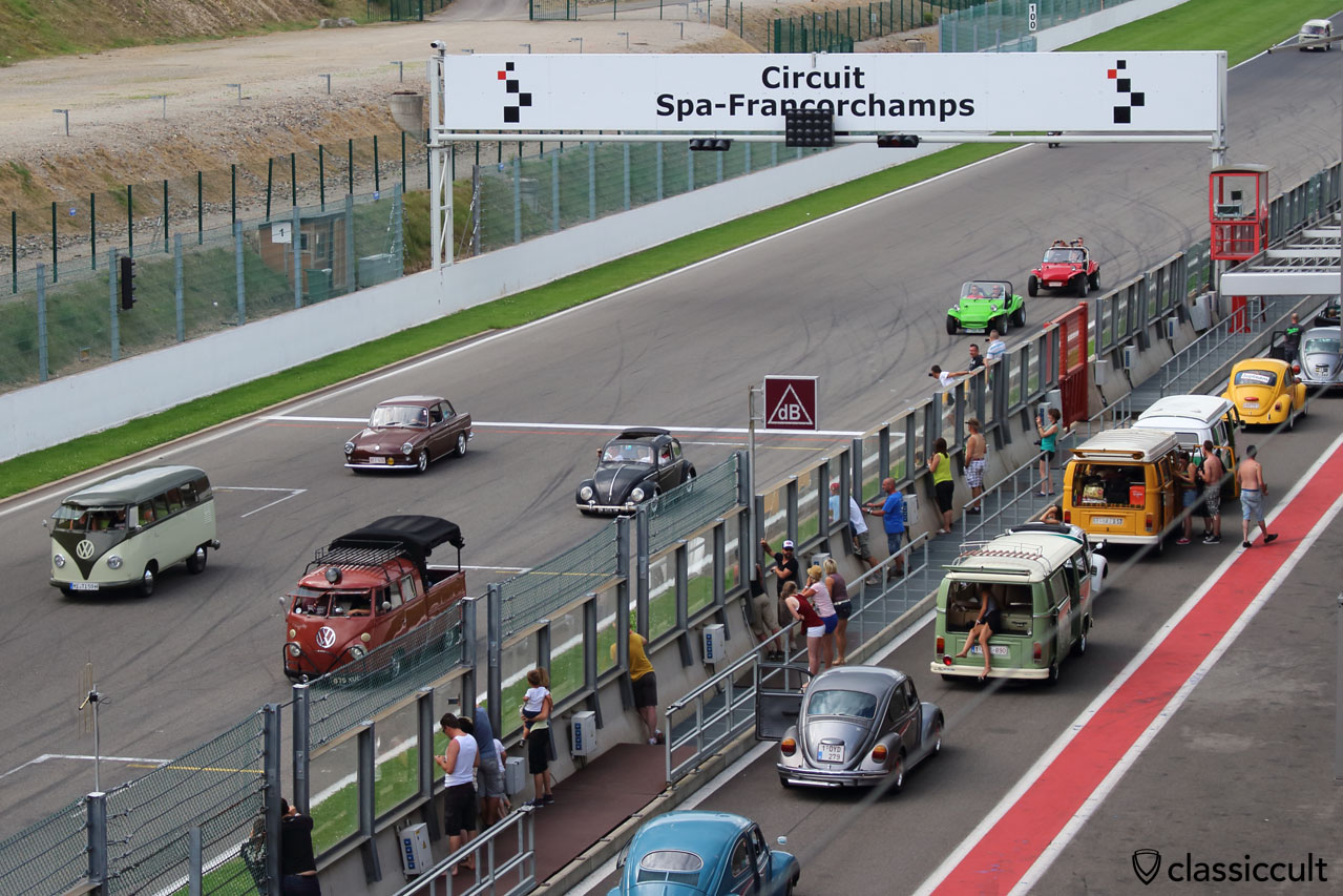 Aircooled Parade Circuit Spa-Francorchamps Bug Show 2014