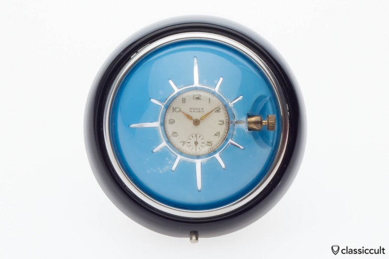 Kunika Anker 8 day wind-up VW Oval steering wheel clock