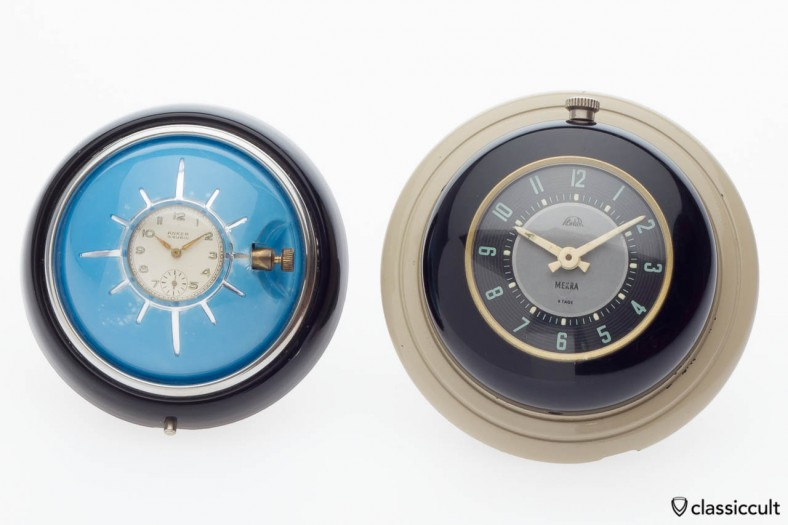 VW split oval bug steering wheel clock