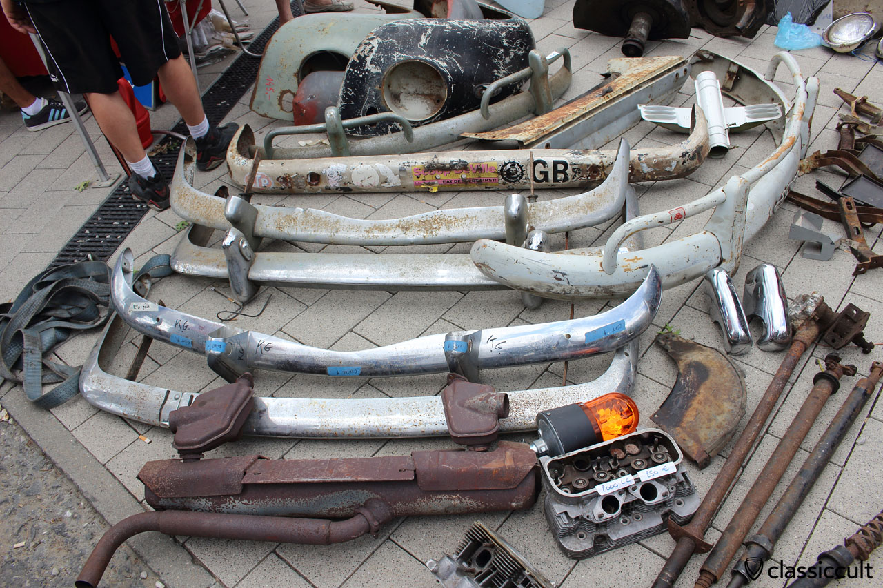 VW bumper parts
