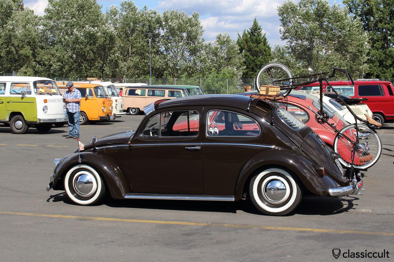 VW Beetle with bike rack