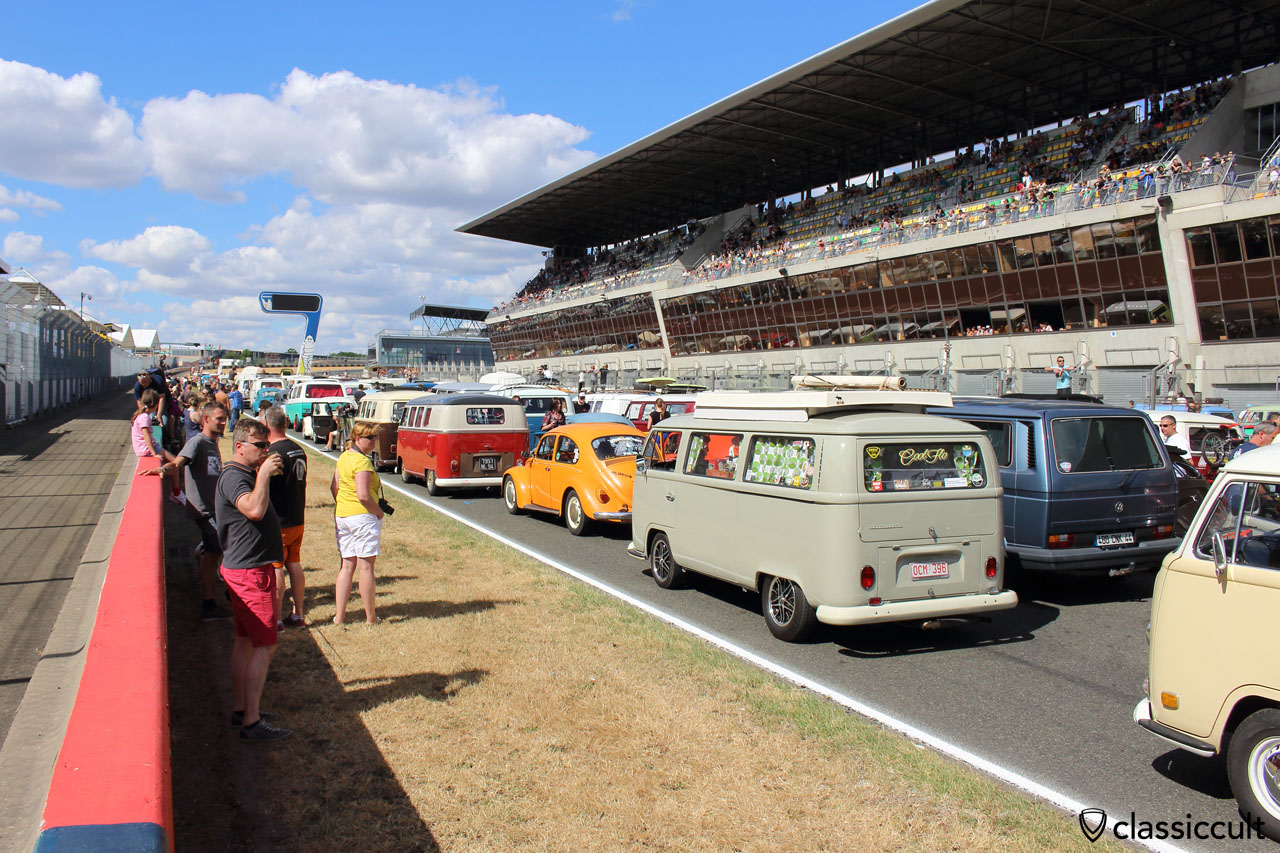 VW Fans on Le Mans race track
